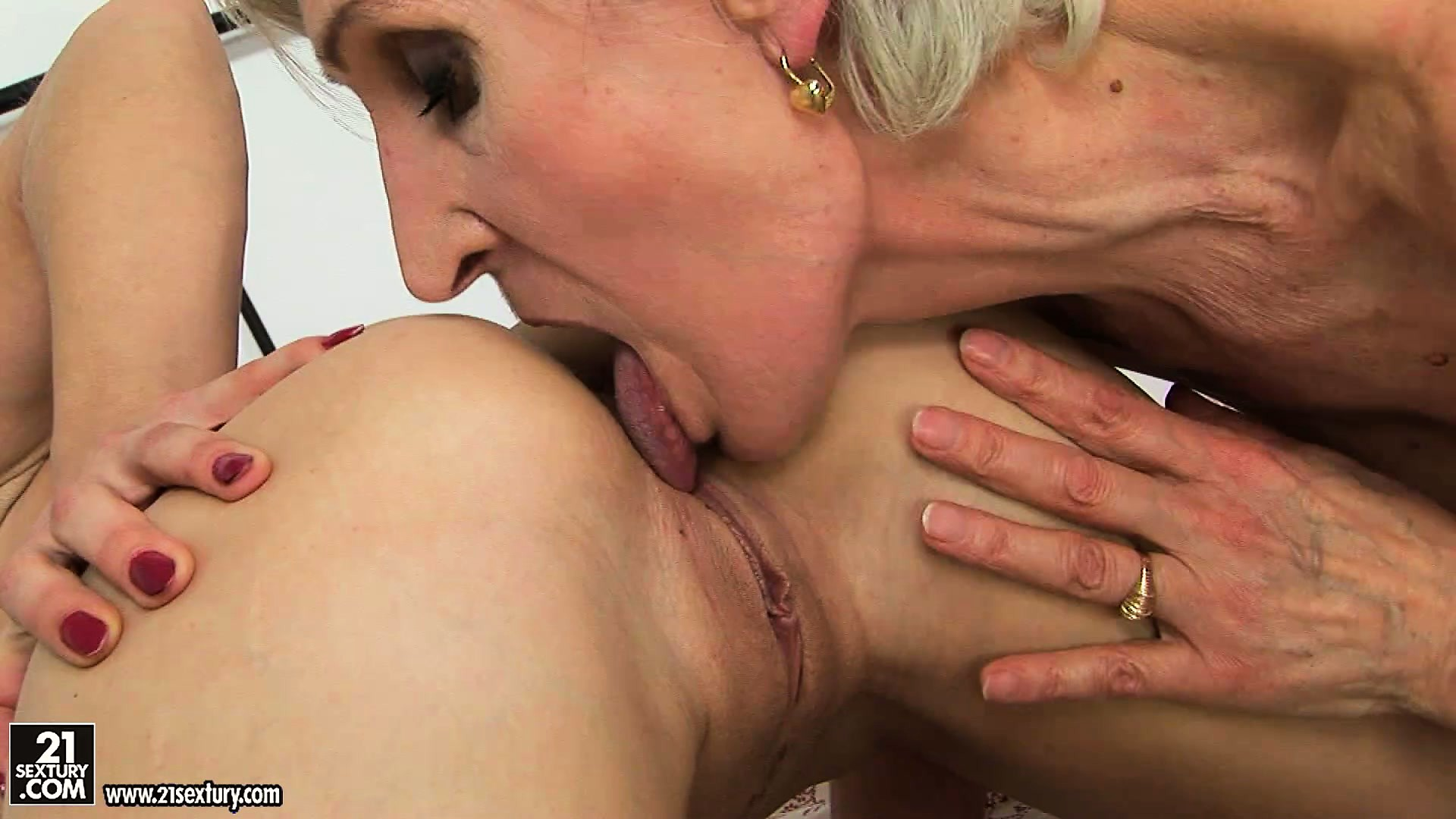 Porno Video of Granny Goes Down On A Sexy Lesbian Tomboy And Even Licks Her Ass