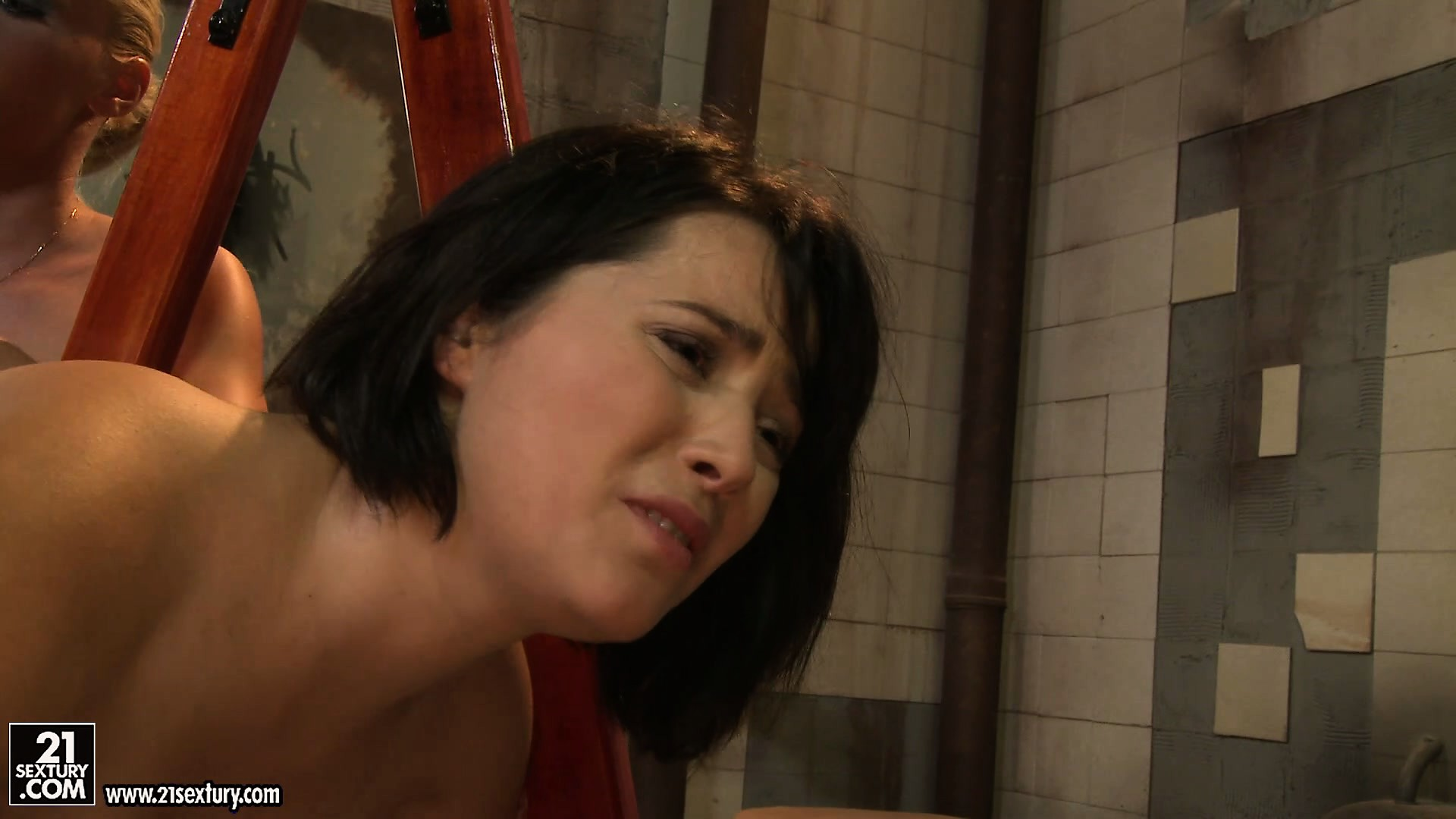 Porn Tube of Innocent Brunette Looks Really Pissed Of When She's Being Spanked