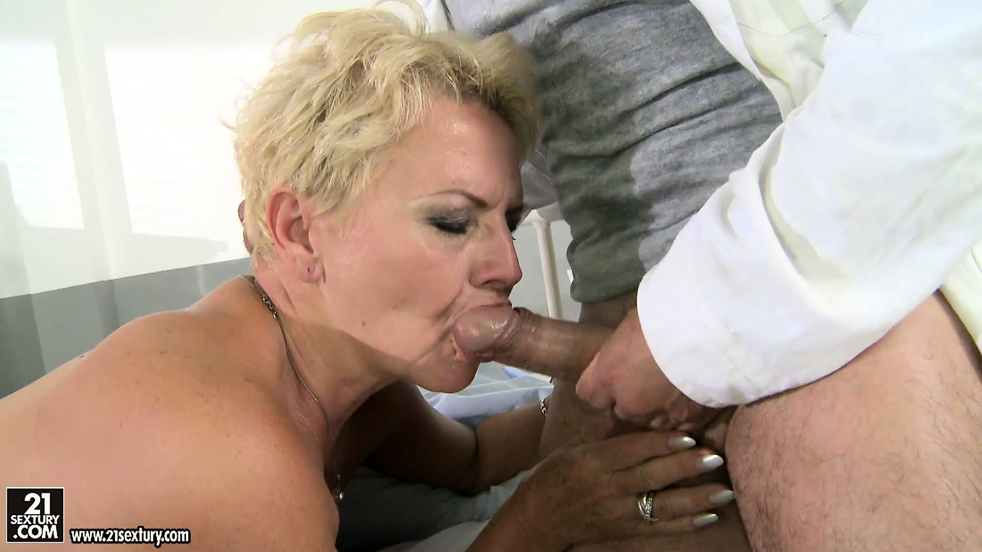 Porno Video of Naughty Blonde Grandma Gets An Emergency Injection Form Her Doctor
