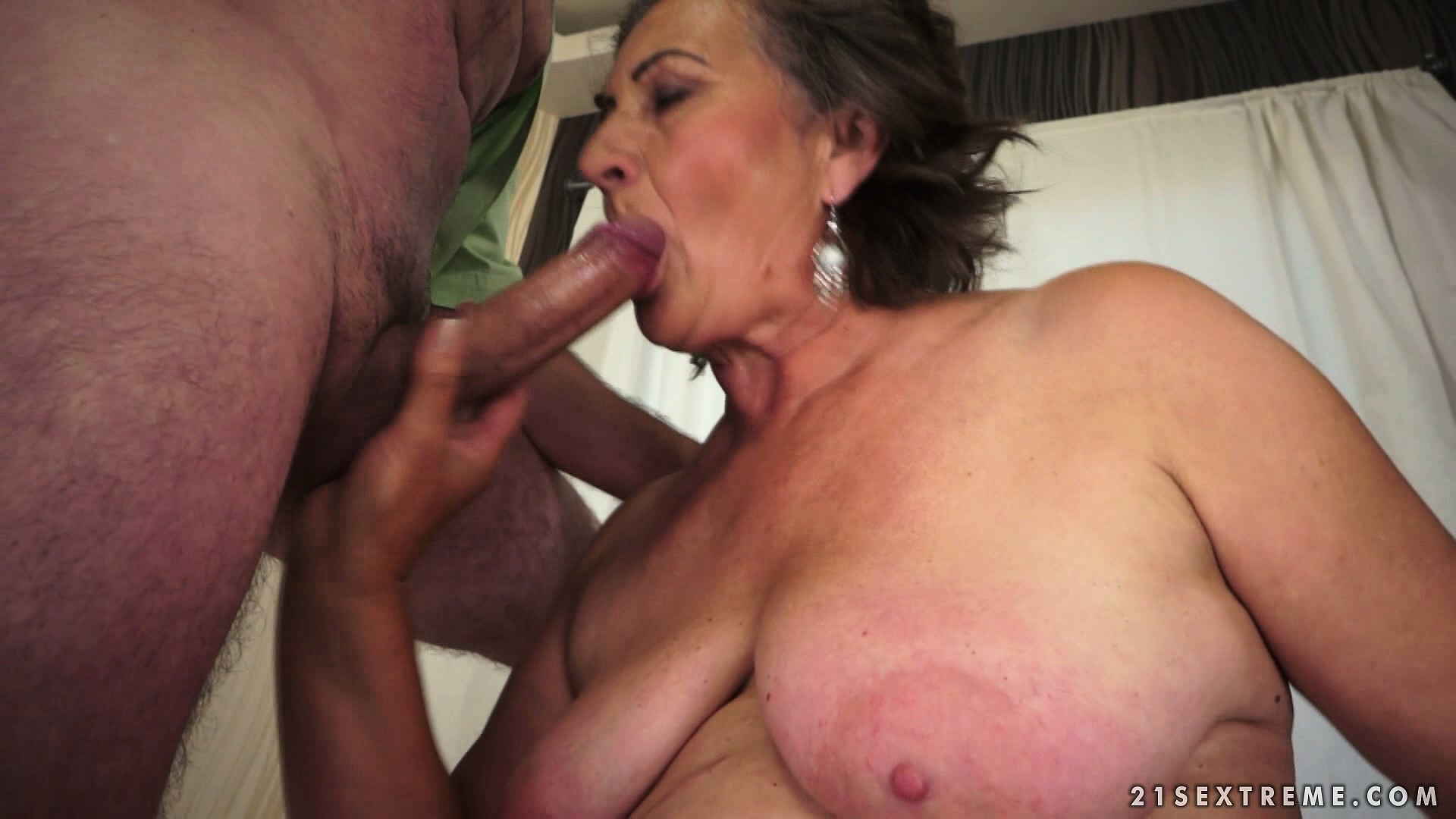 Sex Movie of Hairy Old Granny Is Getting Her Twat Licked, Blows And Gets Pumped