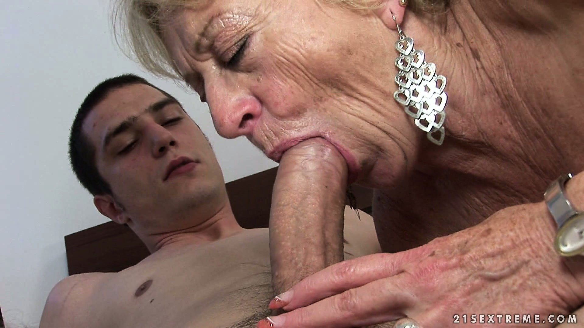 Porn Tube of Slutty Blonde Granny And Her Young Studly Lover Go Shopping Then Home For Sex