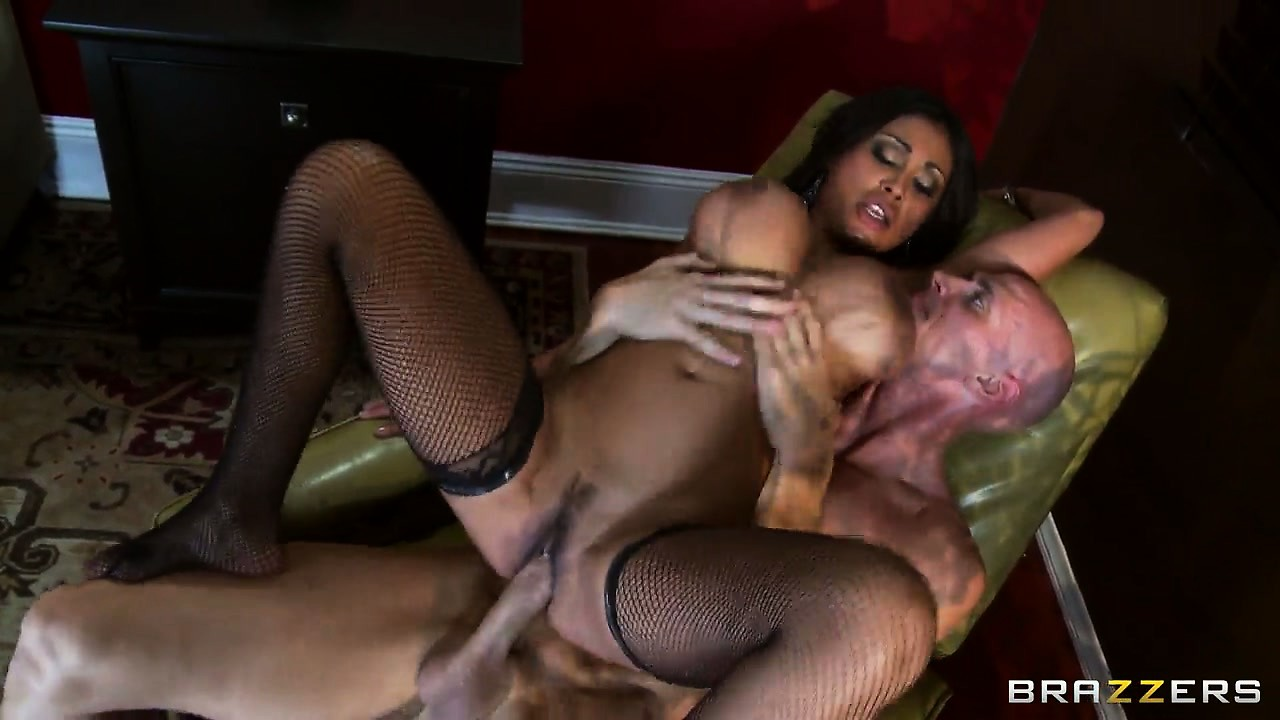 Porno Video of This Busty Black Babe In Stockings Does It Reverse Cowgirl Style