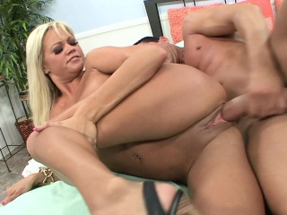 buxom blonde with a wonderful booty nikita von james is a wild cougar