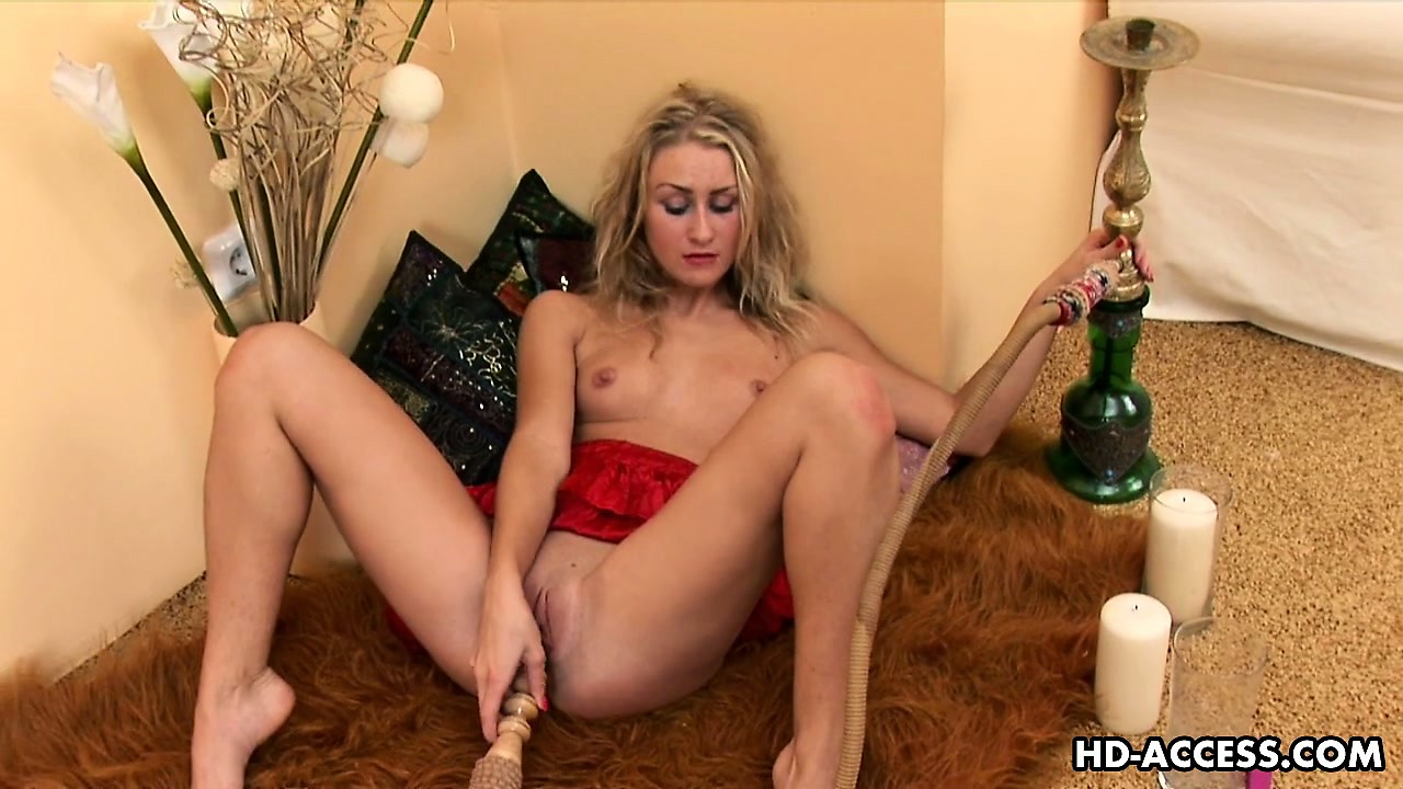 Porn Tube of Slender Blonde Sneganna Rubs Her Nipples And Clit Before Sticking A Dildo In Her Twat