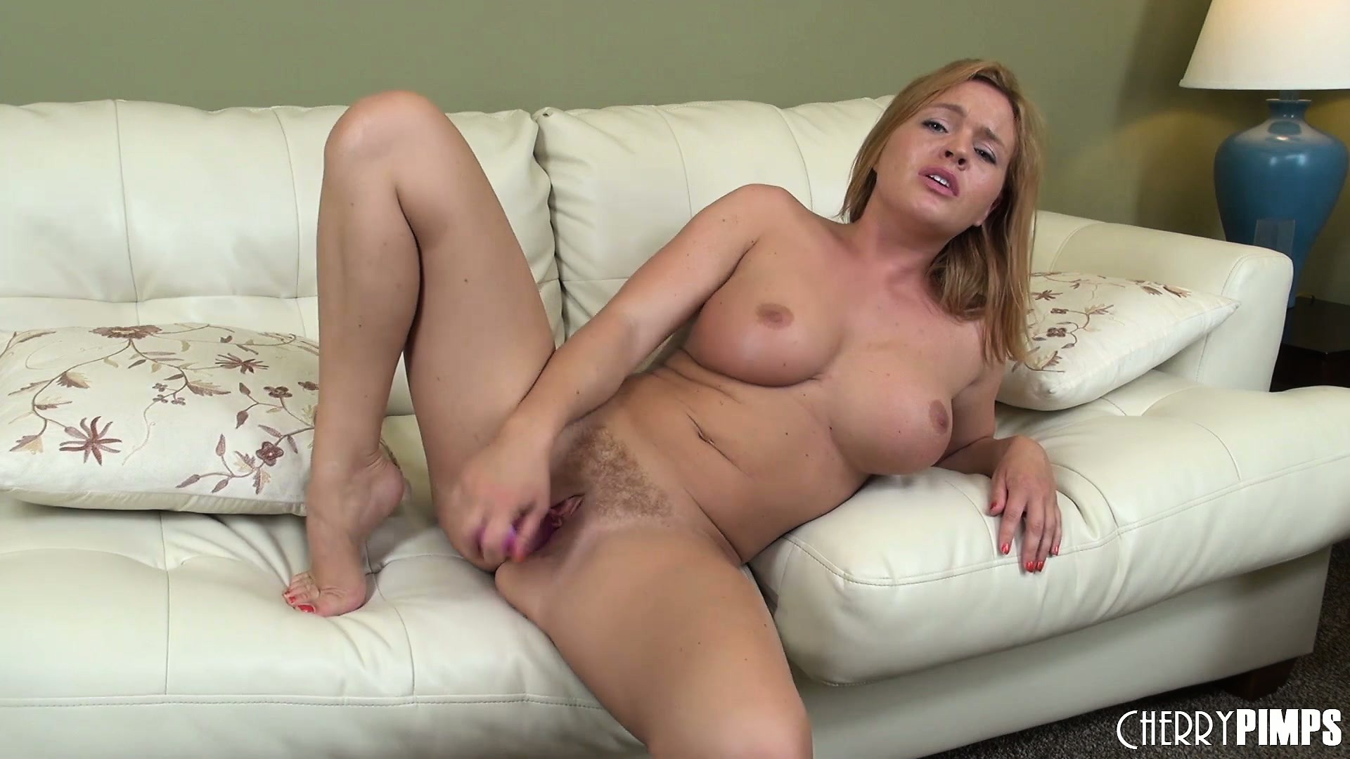 Porn Tube of Krissy Lynn Is Alone On The Couch Sucking And Fucking Her Sex Toy