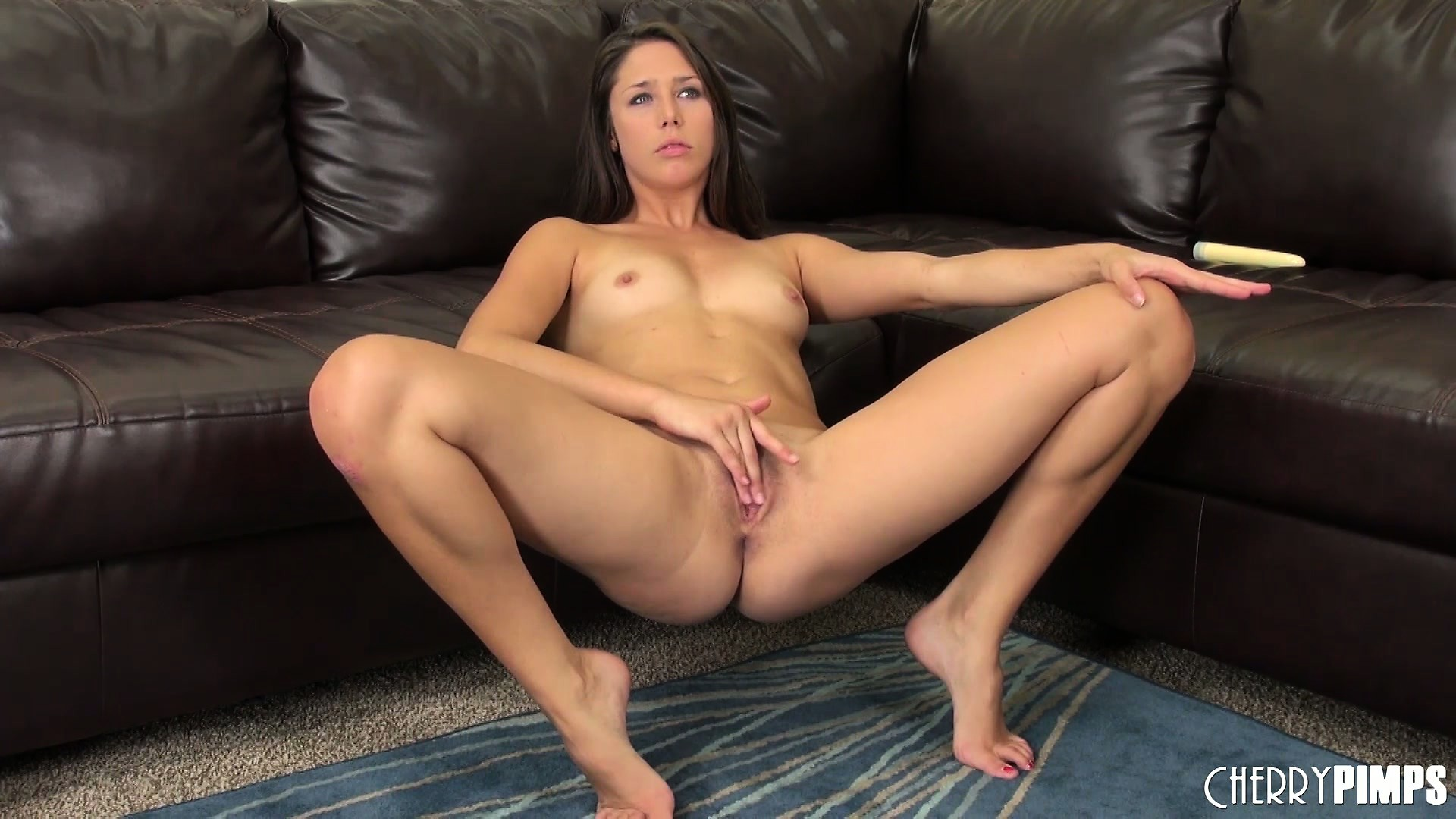 Porno Video of Hot Brunette Cutie, Anna Morna, Makes A Juicy Mess Of Her Pussy