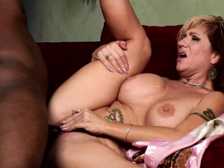 brittany blaze gets into an interracial fuck fest with a black dude