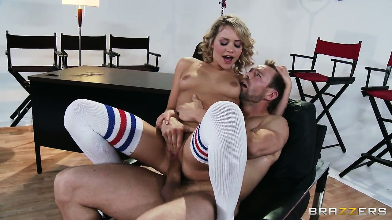 Porno Video of Cock Sitting Is What This Little Cum Slut Loves When She Wears Her Knee Socks