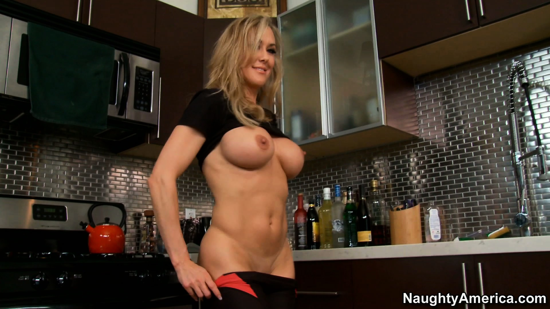Porn Tube of Busty Brandi Love Does A Striptease And Shows Off Her Round Ass