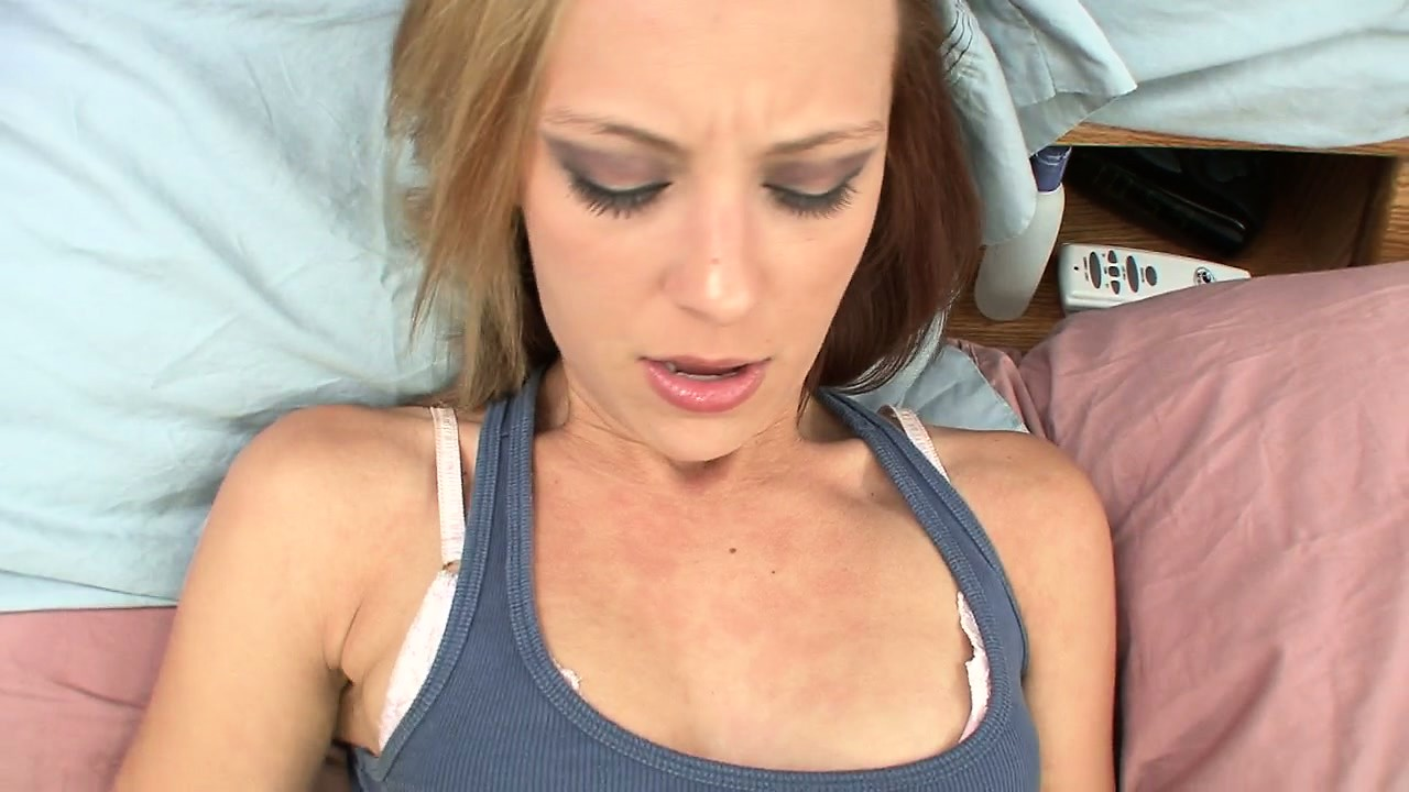 Porno Video of Small-tittied Girl Lies On Comfortable Bed And Stimulates Herself