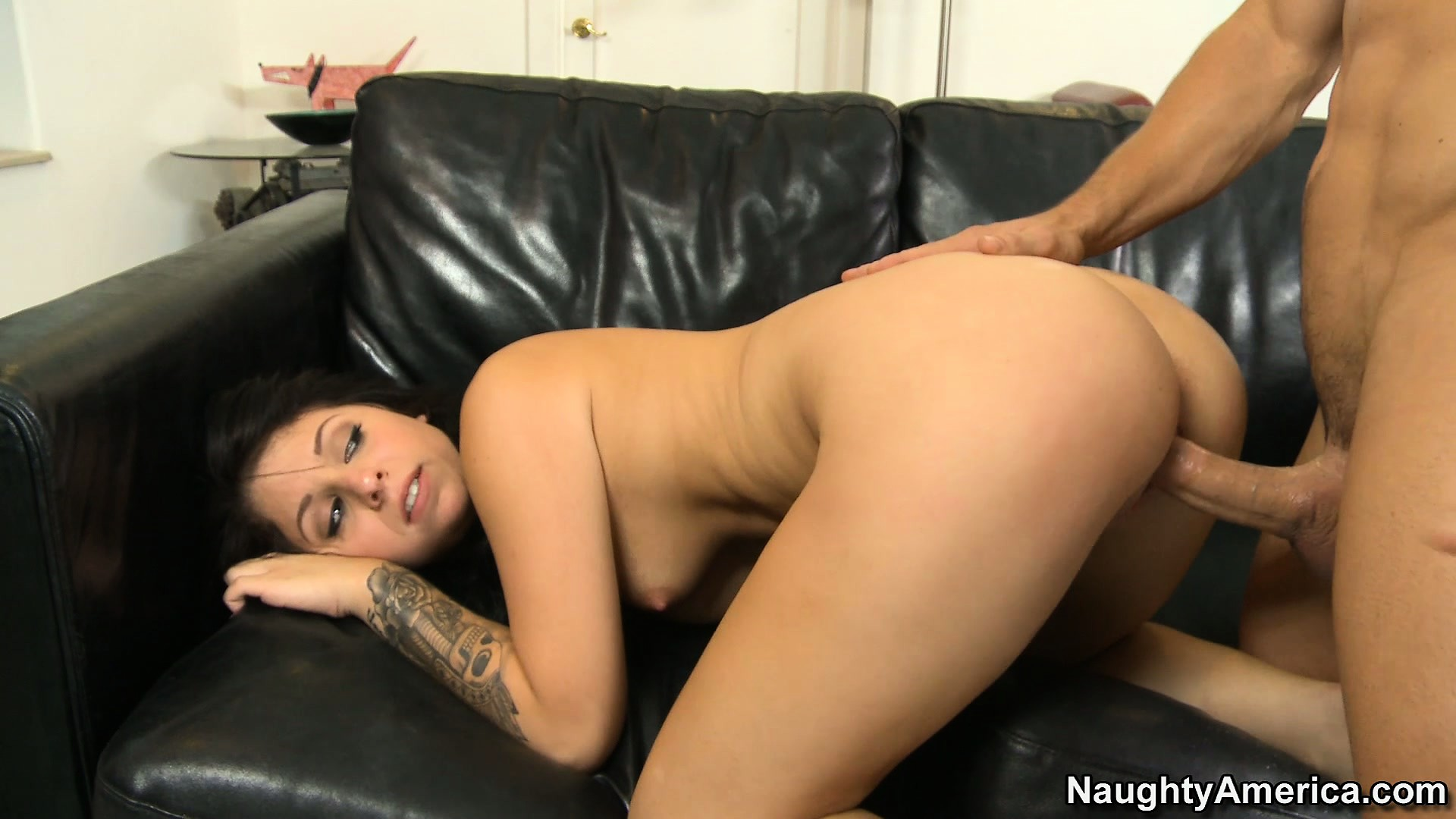 Porn Tube of Sweet Brunette Madelyn Monroe Gets Drilled And Goes Doggy Style