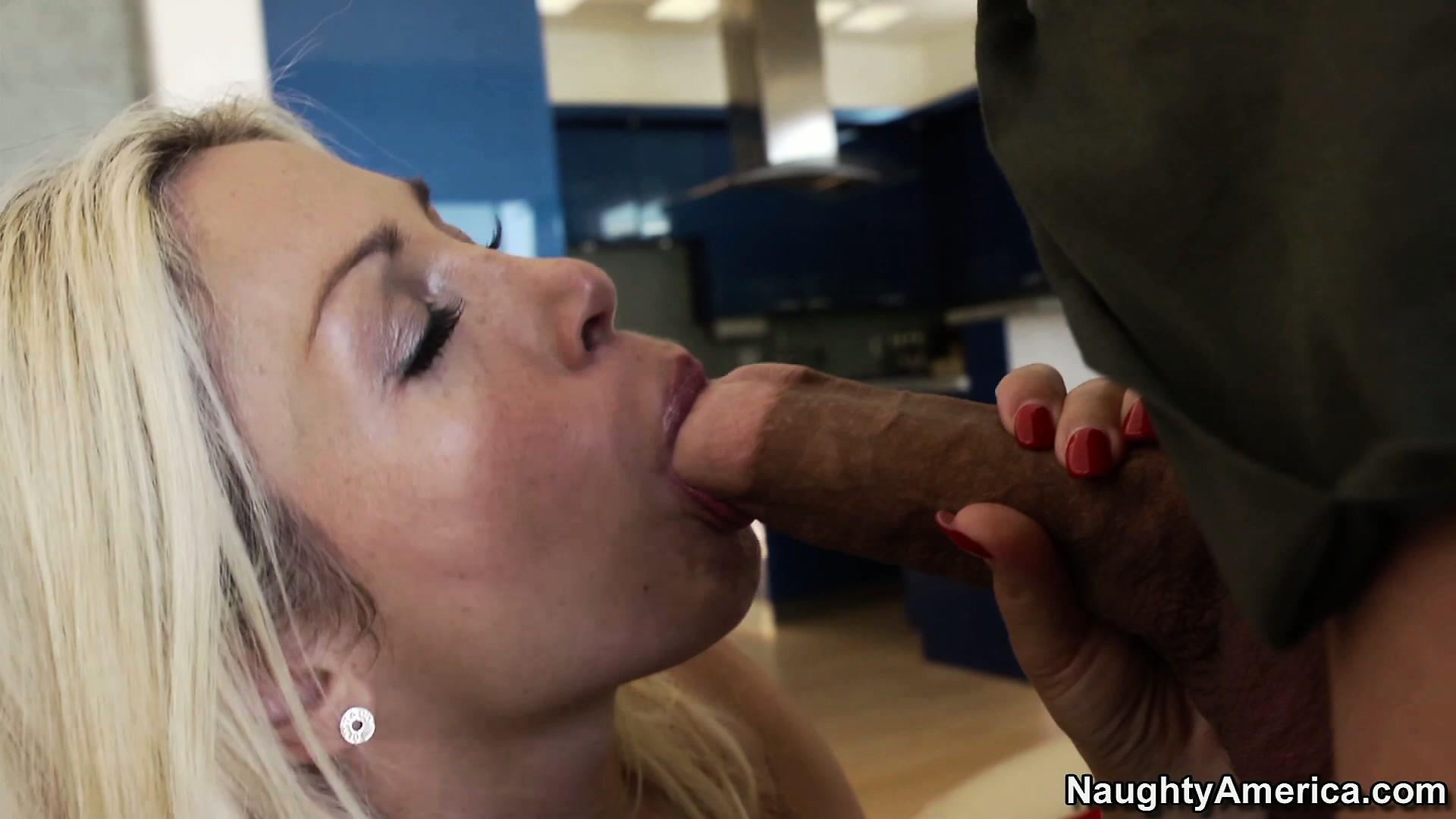 Porno Video of Dirty Blonde Bitch Evita Pozzi Plants Her Lips Around His Cock
