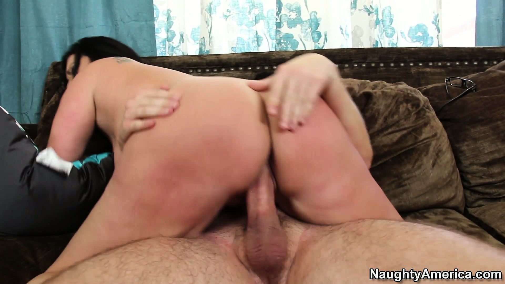 Porn Tube of Sammy Brooks Gets Her Juicy Ass Spanked While Riding On A Dick