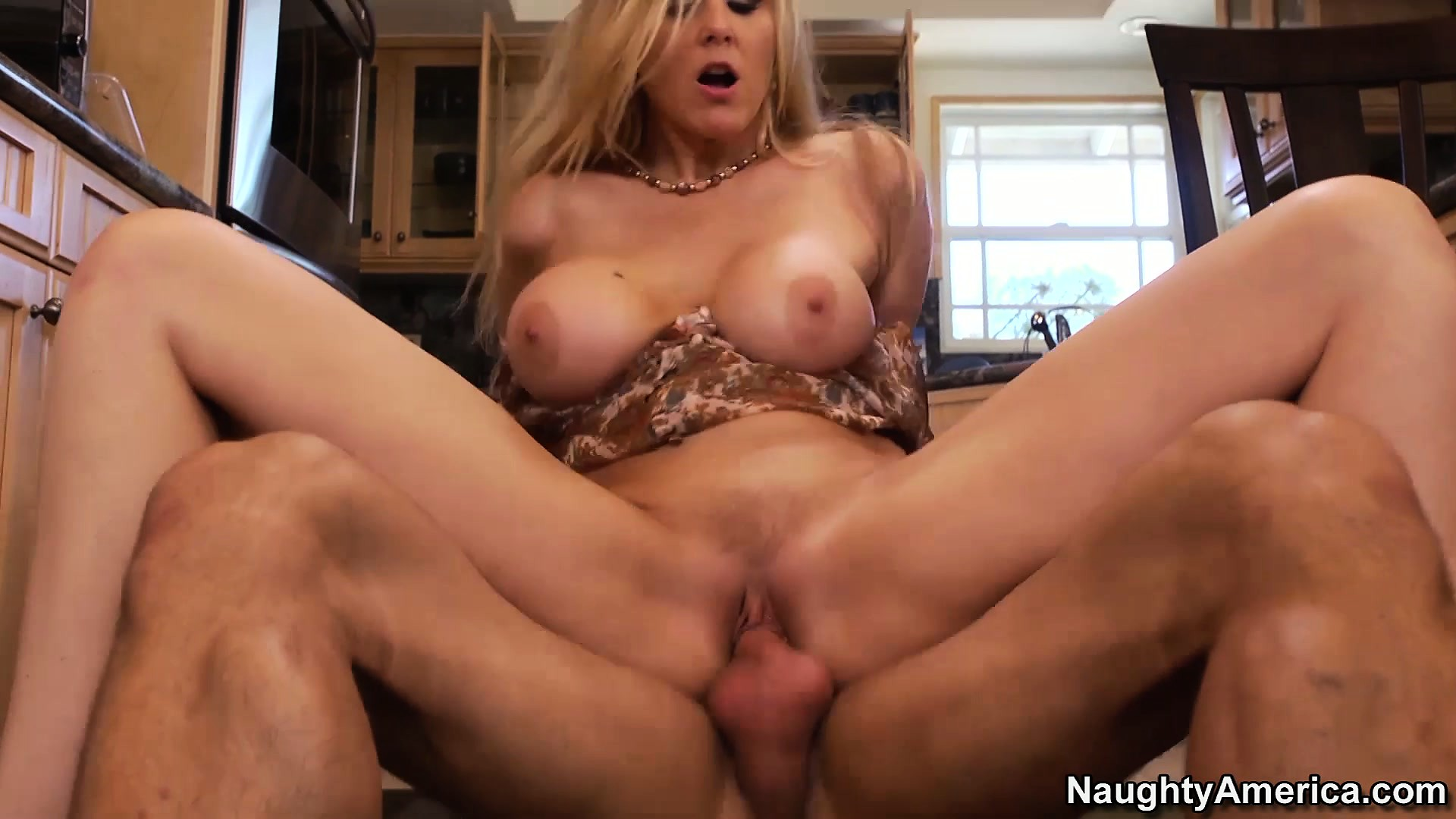 Porn Tube of Julia Ann Is Getting Fucked All Over Her New Kitchen Breaking It In