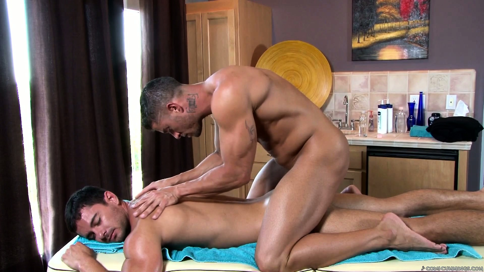 Porn Tube of The Master Masseur Works His Magic On His New Clients Stiff Muscles
