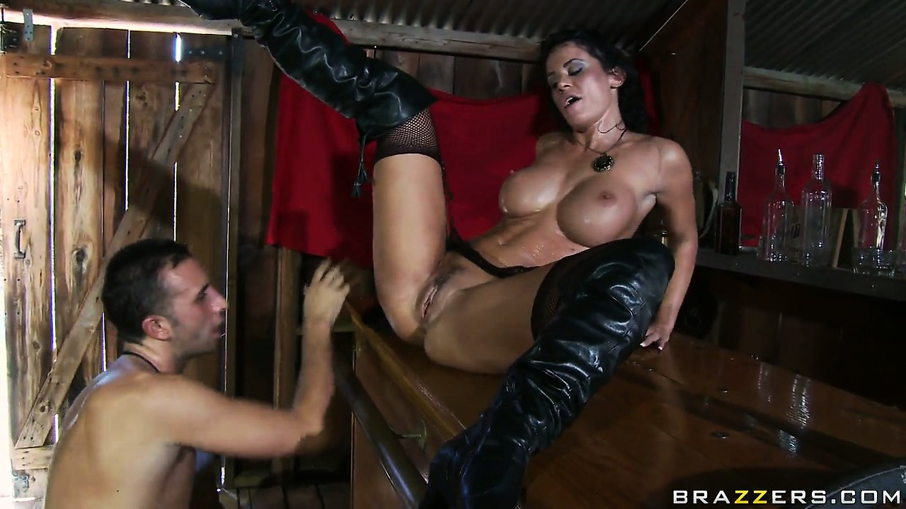 Porn Tube of Wild, Big-tittied Brunette Pushes The Head Of Her Lover Between The Legs