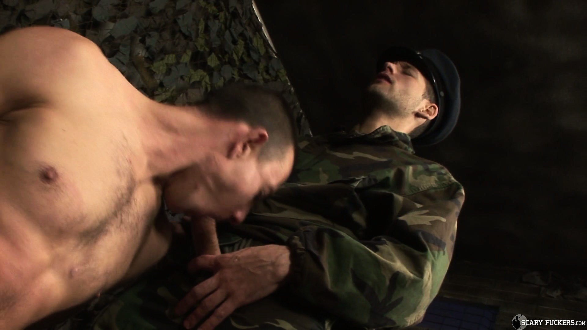 Porno Video of This Captured Soldier Gets A Taste Of His Enemy's Firm Member