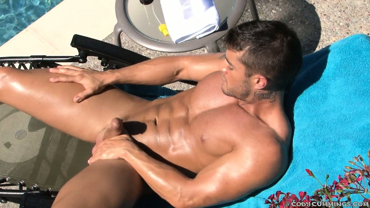 Porno Video of With The Sun Bathing His Skin, A Young Stud Shows Off His Body And His Cock