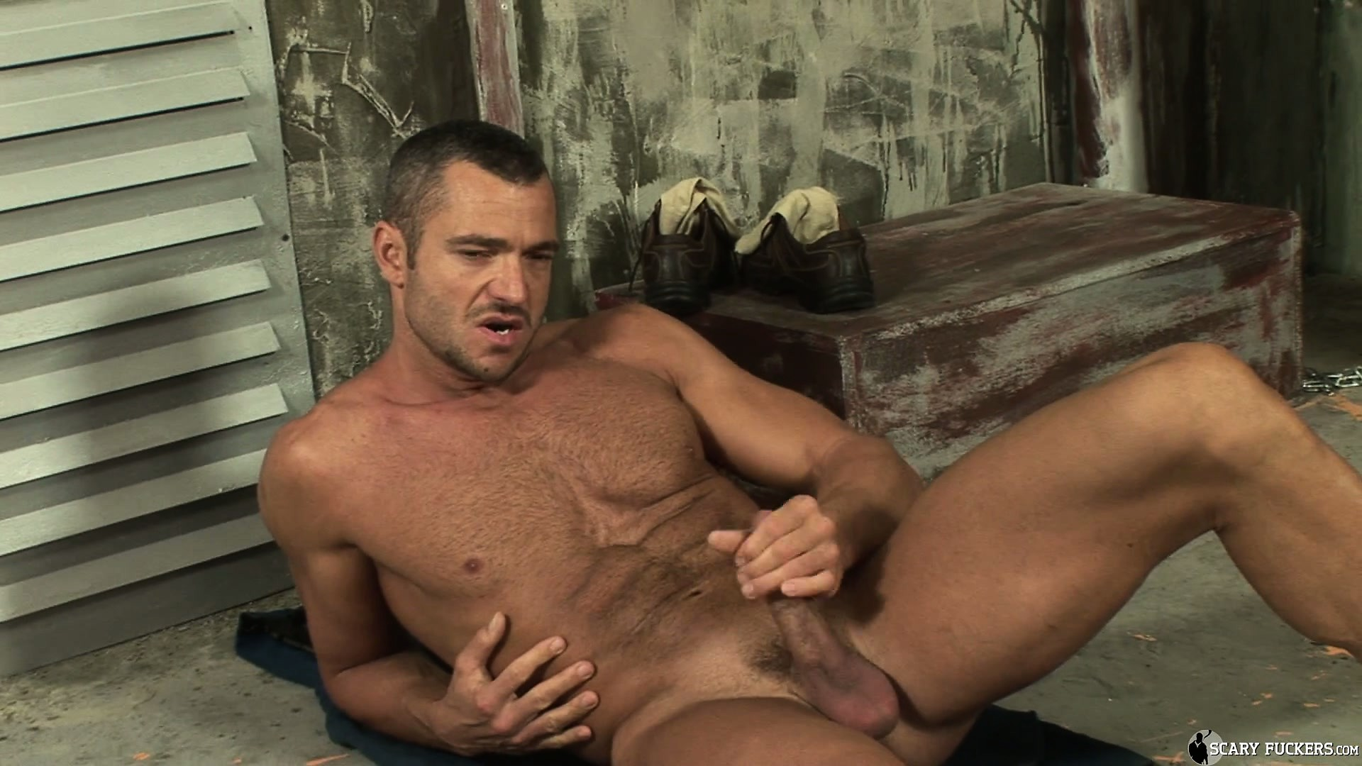 Porno Video of Sergio Soldi Is Limber Enough To Stretch And Lick His Hard Cock