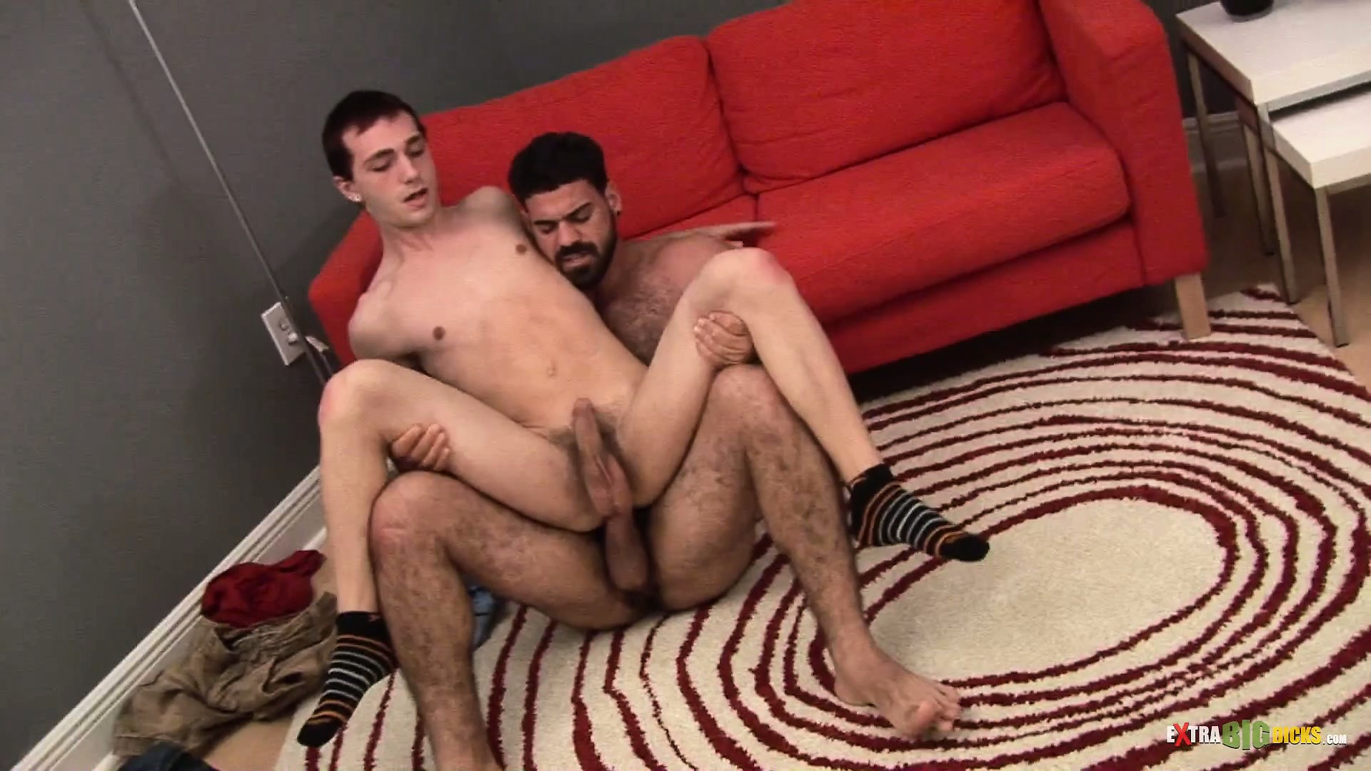 Porn Tube of Pale Twink Gets Piledriven Balls Deep By A Hairy Man's Big Cock