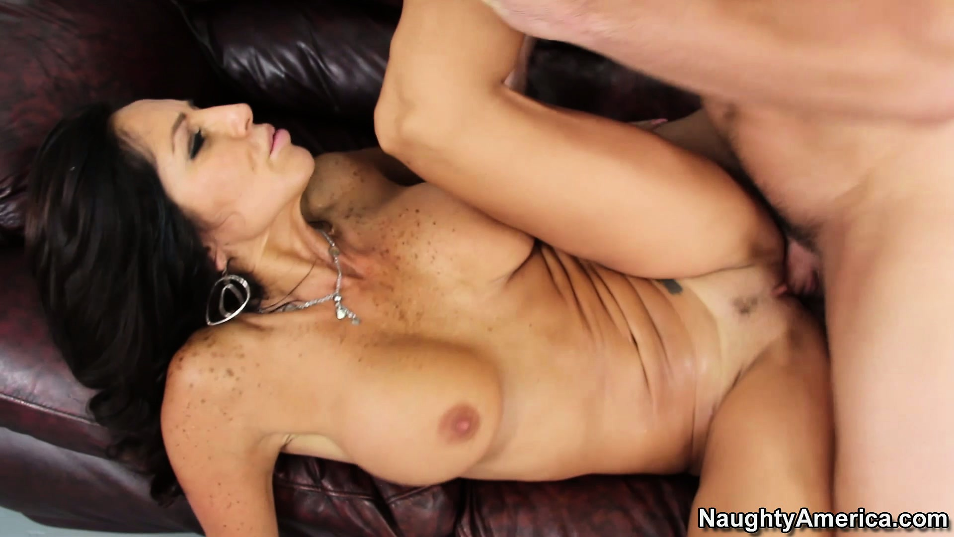 Porn Tube of Hot Brunette Mom Tara Holiday Gets Hammered By His Young Tool