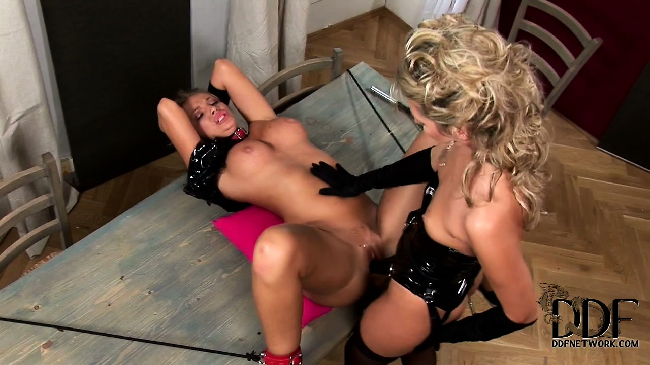 Porno Video of Blondie And Raven Haired Bitch In Shocking Submissive Banana Cram!