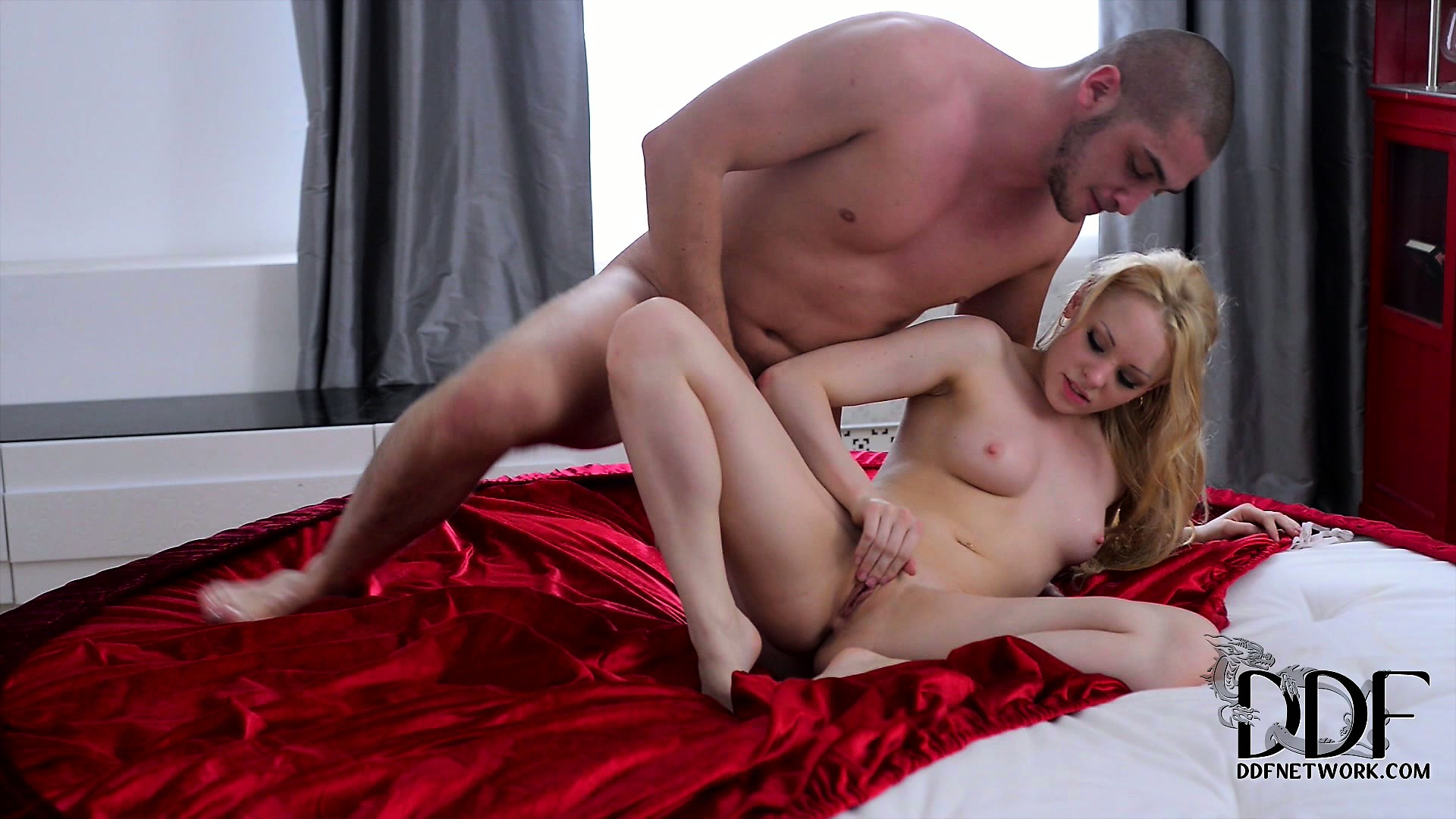 Porno Video of Petite Blonde Cute Gets A Mouthful Of Cum From Her Lover's Cock