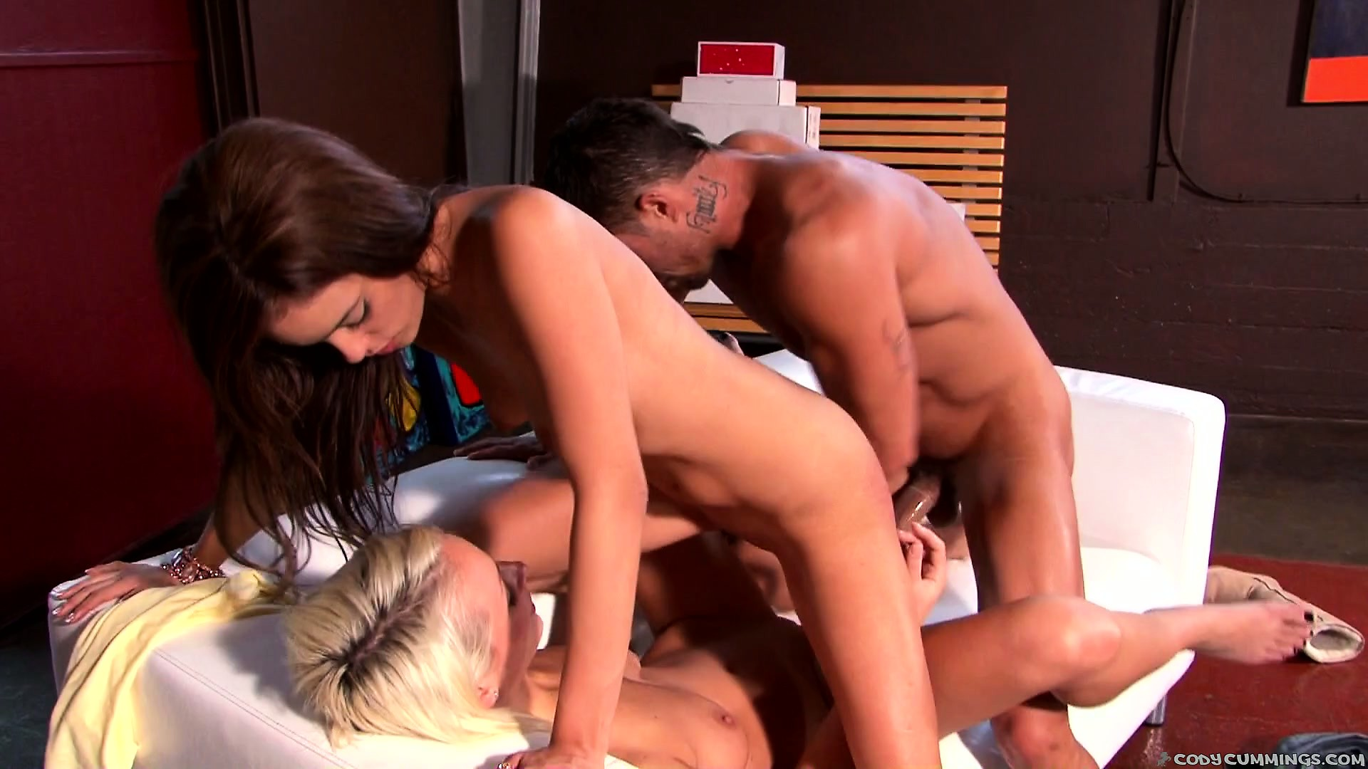 Porno Video of He Takes Turns Banging One Wet Pussy After The Other And Licks Ass