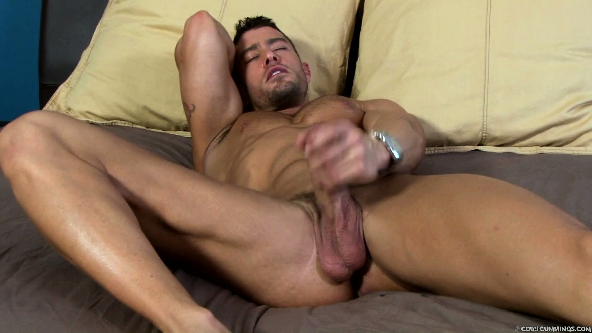 Porno Video of Excellent Woodman Cool Cummings Strokes His Tasty Nuts And Member