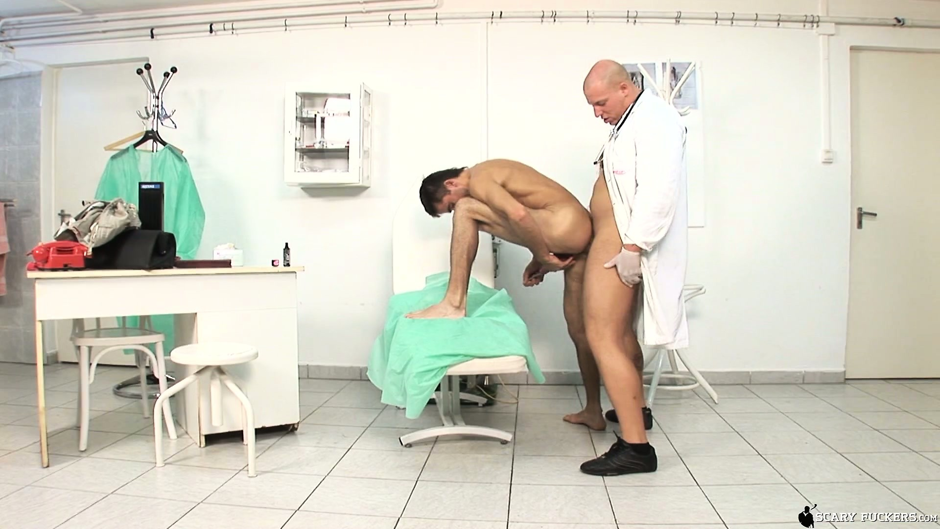 Porno Video of His Doctor Checks His Ass With His Dick While He Sounds Himself