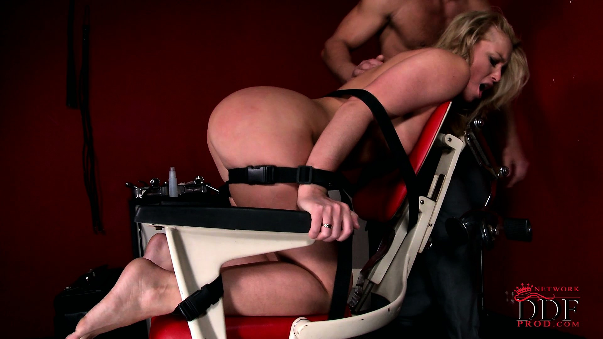 Porno Video of Sexy Slave Lays Bound At The Mercy Of Her Master's Hard Cock