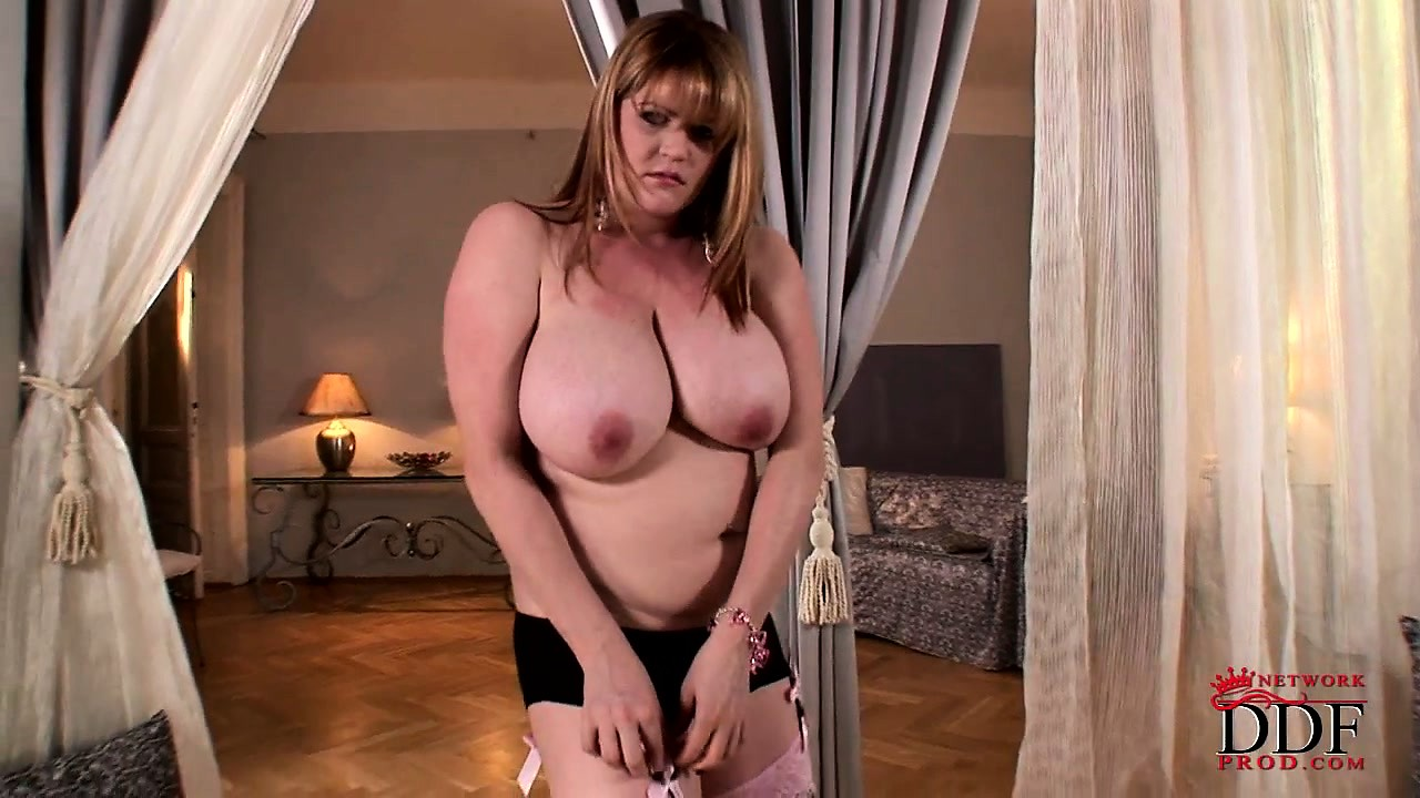 Porn Tube of Chubby Bbw With Huge Knockers Poses And Shows Them Off While Stripping