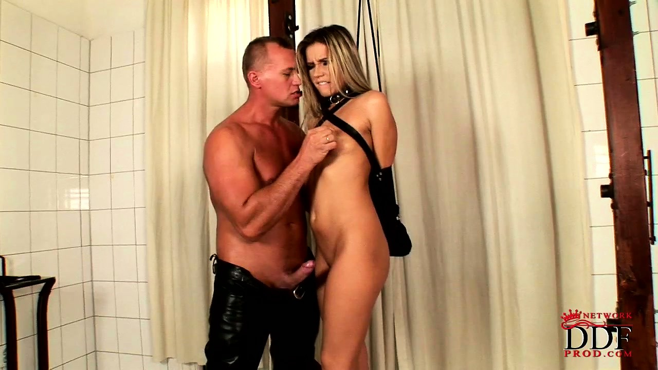 Porno Video of Seductive Blonde With Tiny Tits Gets Pretty Excited As Her Hands And Feet Get Tied