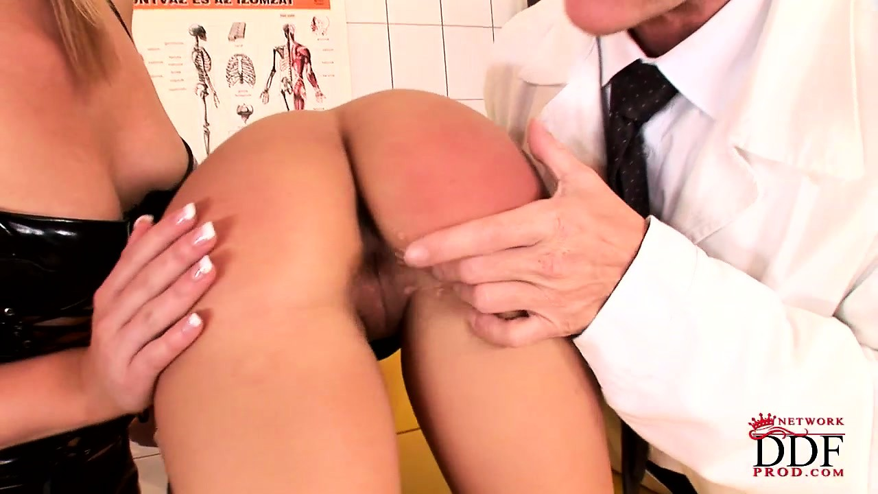 Porn Tube of Nasty Doctor Examines His Patient With His Naughty Nurse And Spanks Her