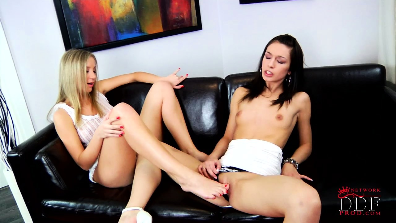 Porn Tube of These Young Lesbian Cuties Love To Lick And Rub Their Pretty Feet