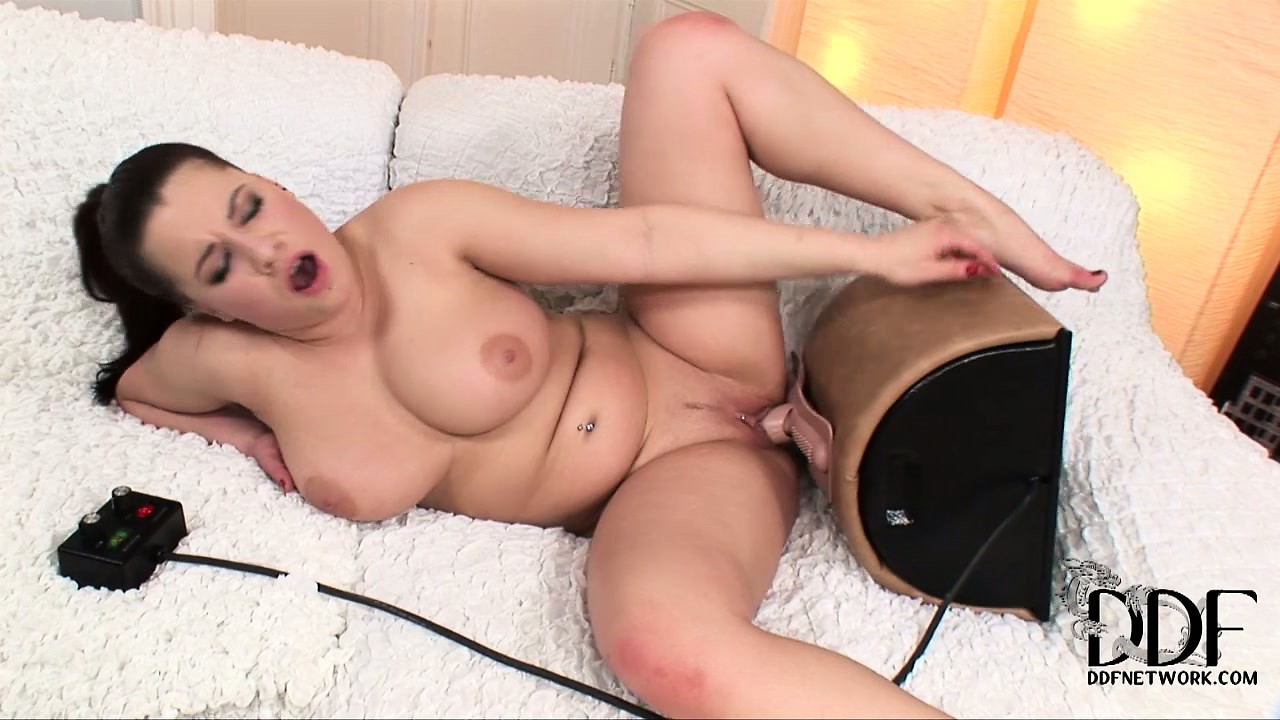 Porn Tube of The Curvy Brunette Jumps On Top Of The Sybian Riding It With Sweeping Desire