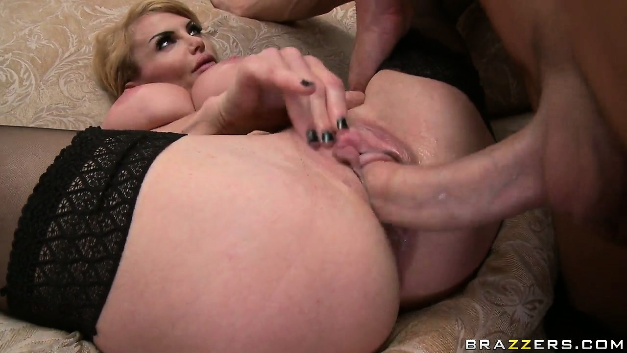Porn Tube of Cougar Gets Her Massive Tits And Pink Clit Lapped Up By A Stud