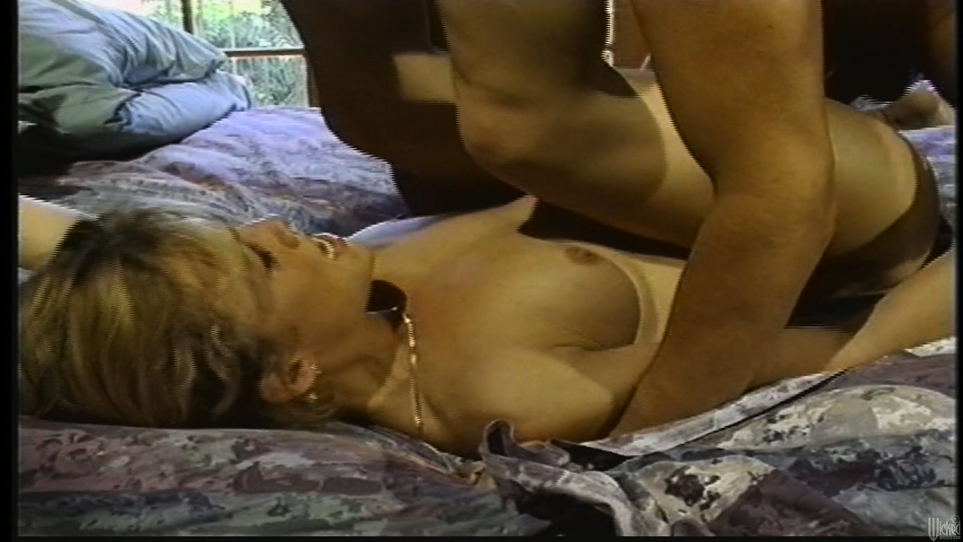 Porno Video of He Bangs The Blonde's Wet Pussy All Over The Bed And She Sighs With Intense Pleasure