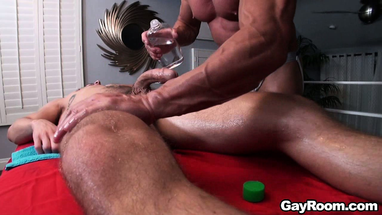 Sex Movie of Bryan Cole Goes In For His Full Body Massage, Which Includes Cock Play
