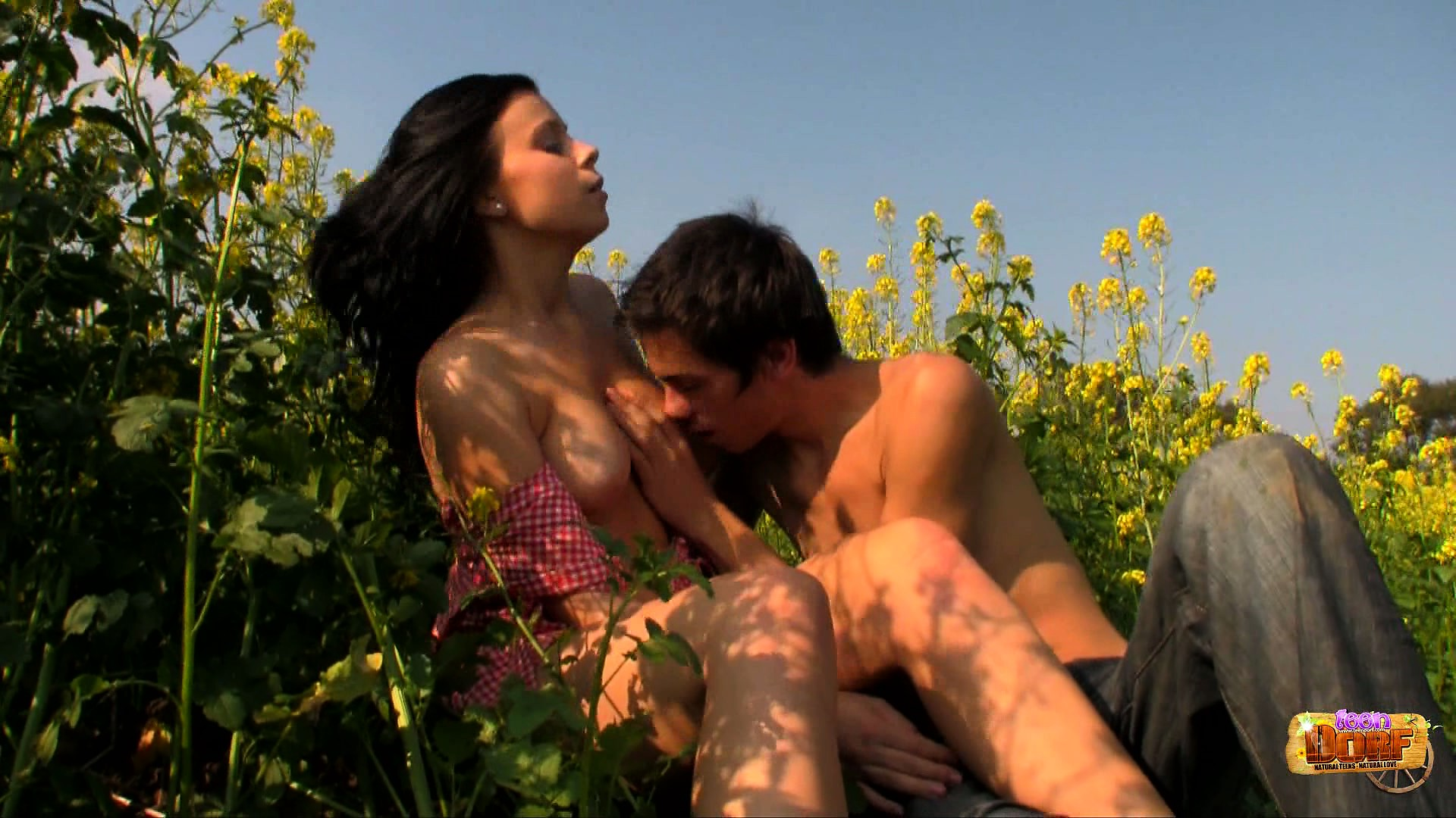 Porno Video of Branislava And Filip In A Field Get Naked For Some Nice Pussy Eating