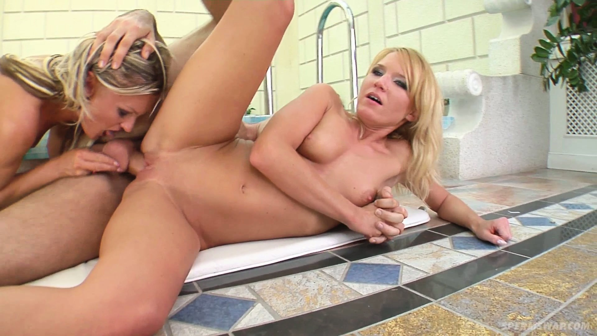 Sex Movie of Tina & Mary Tease Each Other While Being Fucked By His Hard Cock