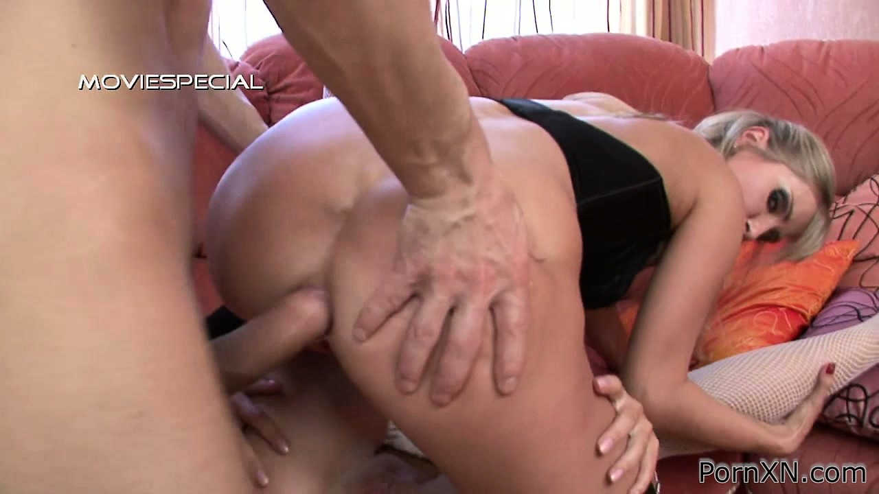 Porn Tube of Adelina And Xandi In A Threesome Getting Ass Nailed, Fisted And Licked
