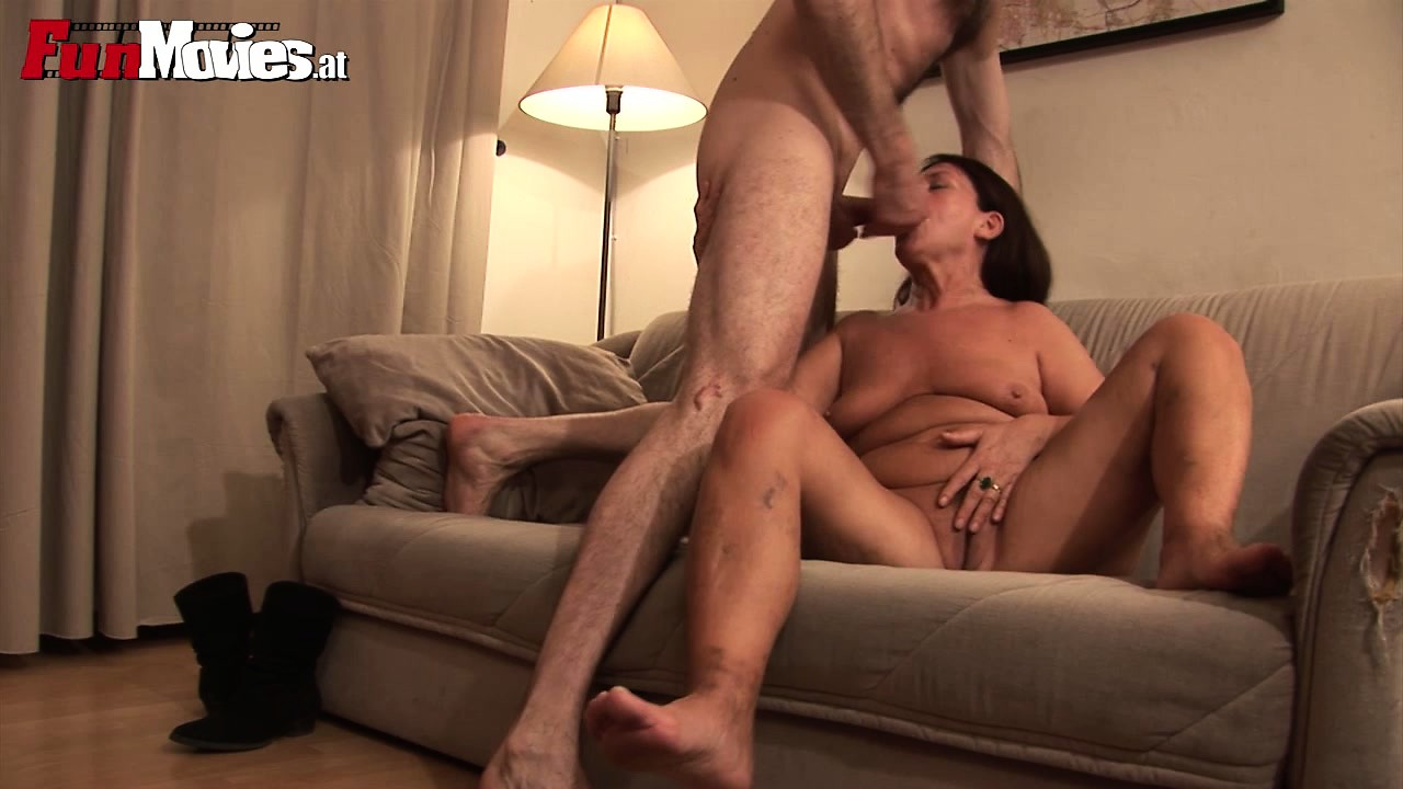 Porn Tube of Granny Gets Herself A Cock In The Mouth And Up Her Old Pussy