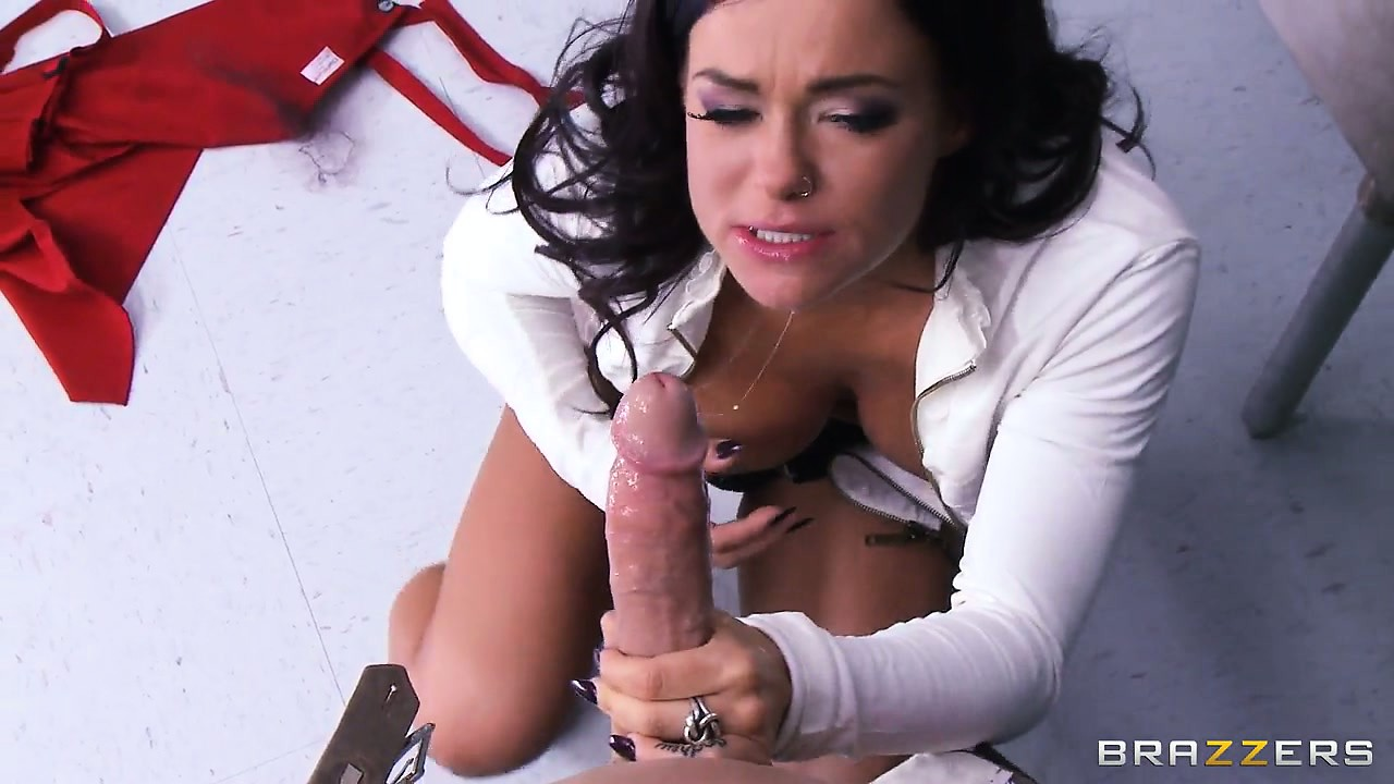 Porno Video of She's On Her Knees Sucking Or Titty Fucking On His Piece Of Man Meat