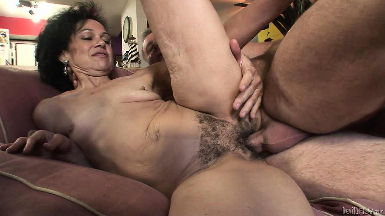 Porn Tube of Grandma Has A Hairy Cunt And Grandpa Plows It With His Shaft