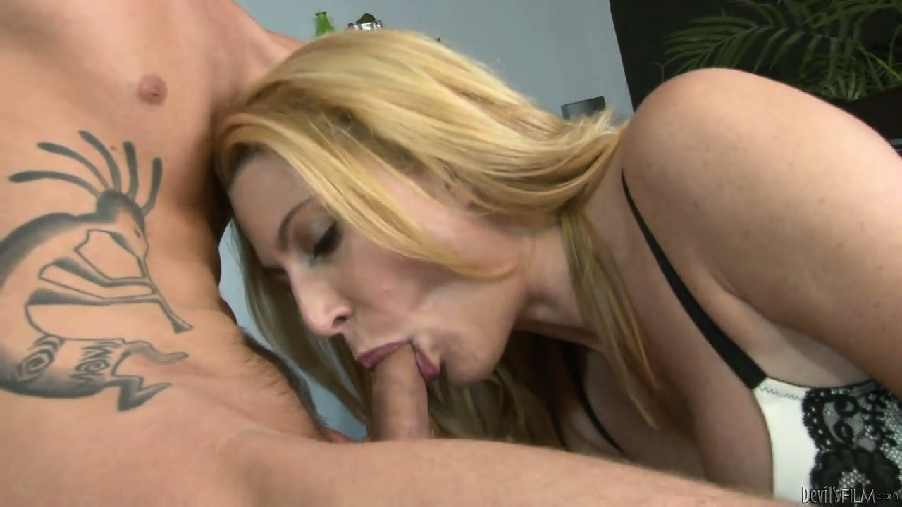 Porn Tube of Milf Jennifer Best Opens Up Her Pussy For Some Oral Sex Performed By A Young Dude
