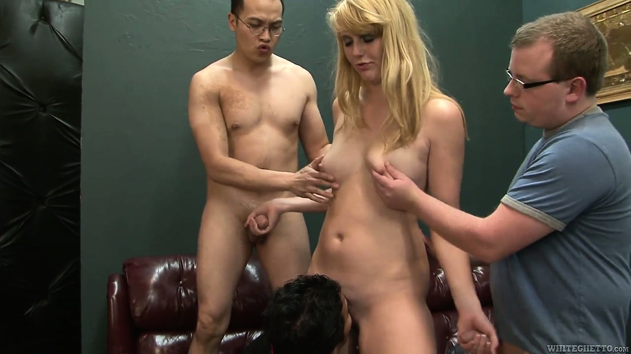 Porno Video of These Horny Studs Have A Plan To Gangbang The Skinny Blonde Babysitter