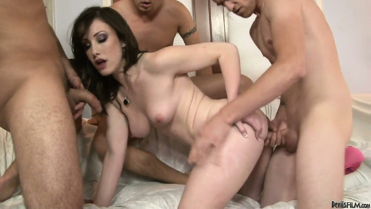 Porn Tube of This College Slut Has All Of Her Holes Taken Up During A Gangbang