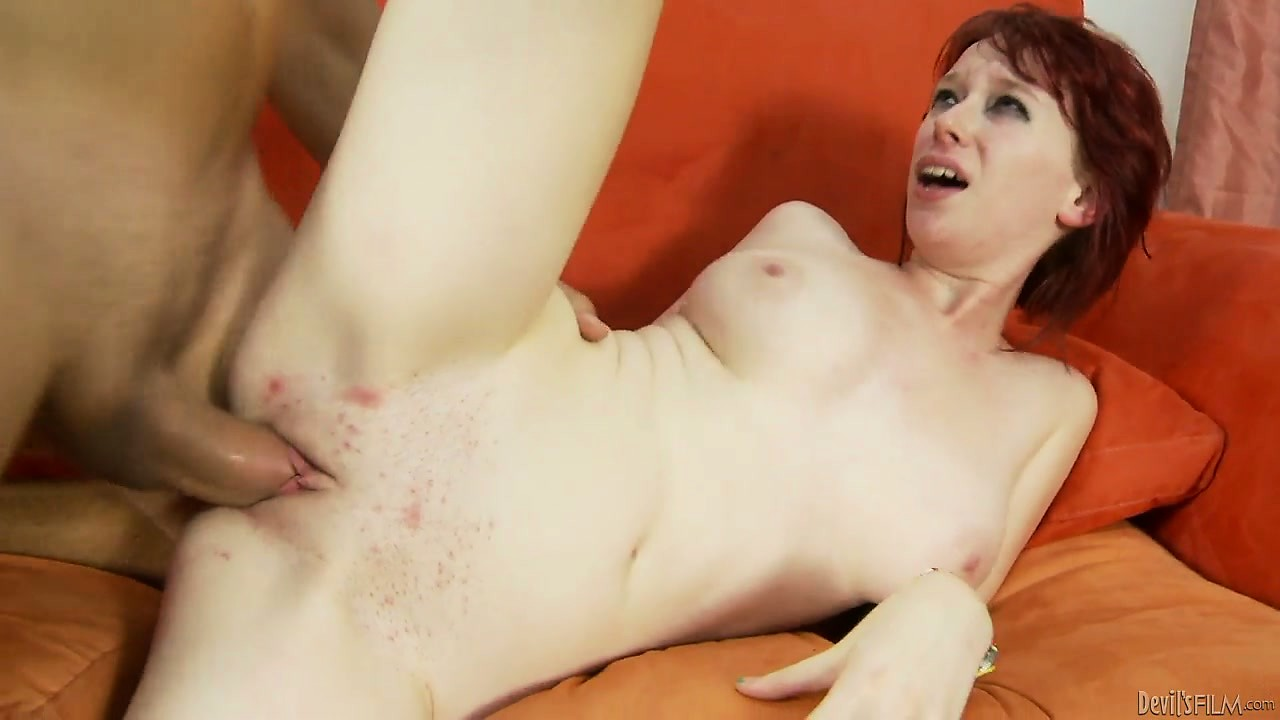Porno Video of Pale Redhead Takes Her Step Brother's Bareback Cock Into Her Cunt