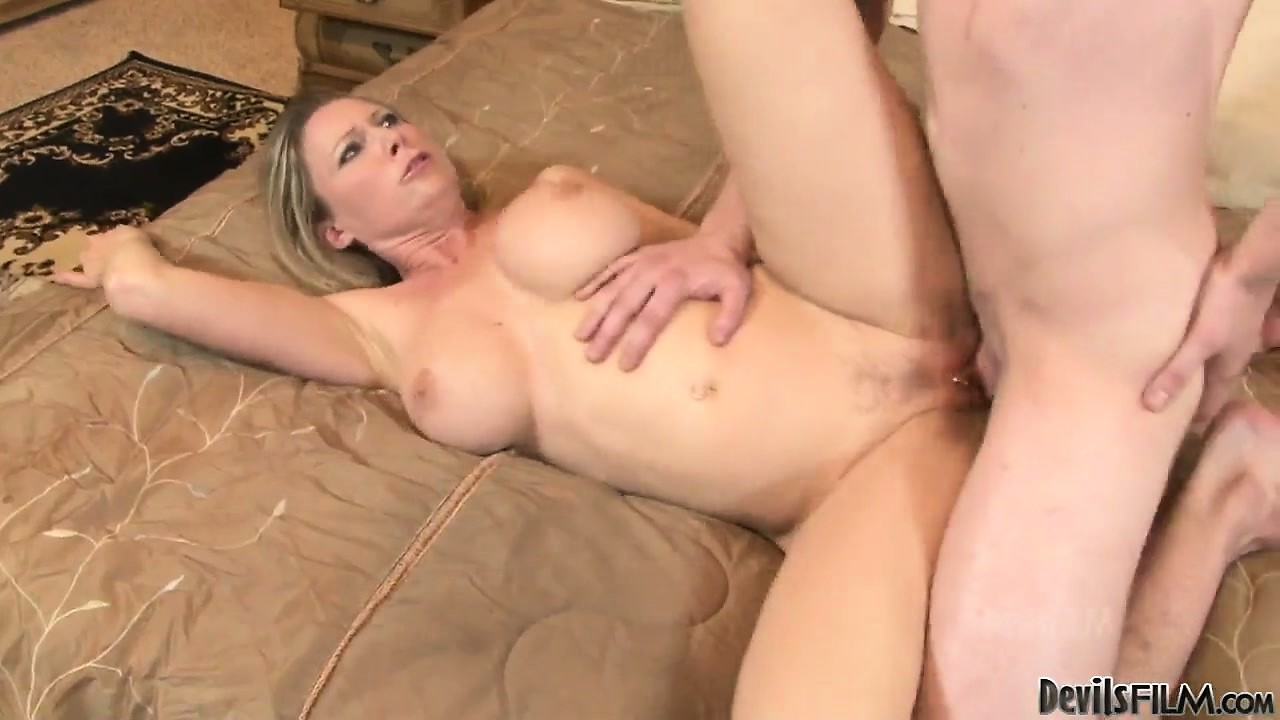 Porno Video of Sexy Young Milf With A Nice Rack Rubs Her Clit During A Fuck